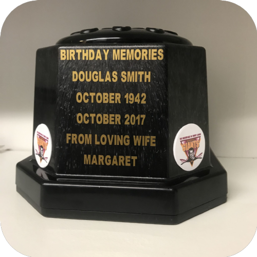 Huddersfield Giants Rugby football personalised grave pot